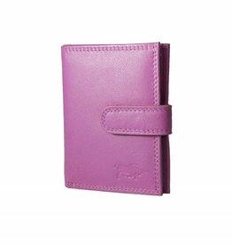 Arrigo Leather folder for cards rose