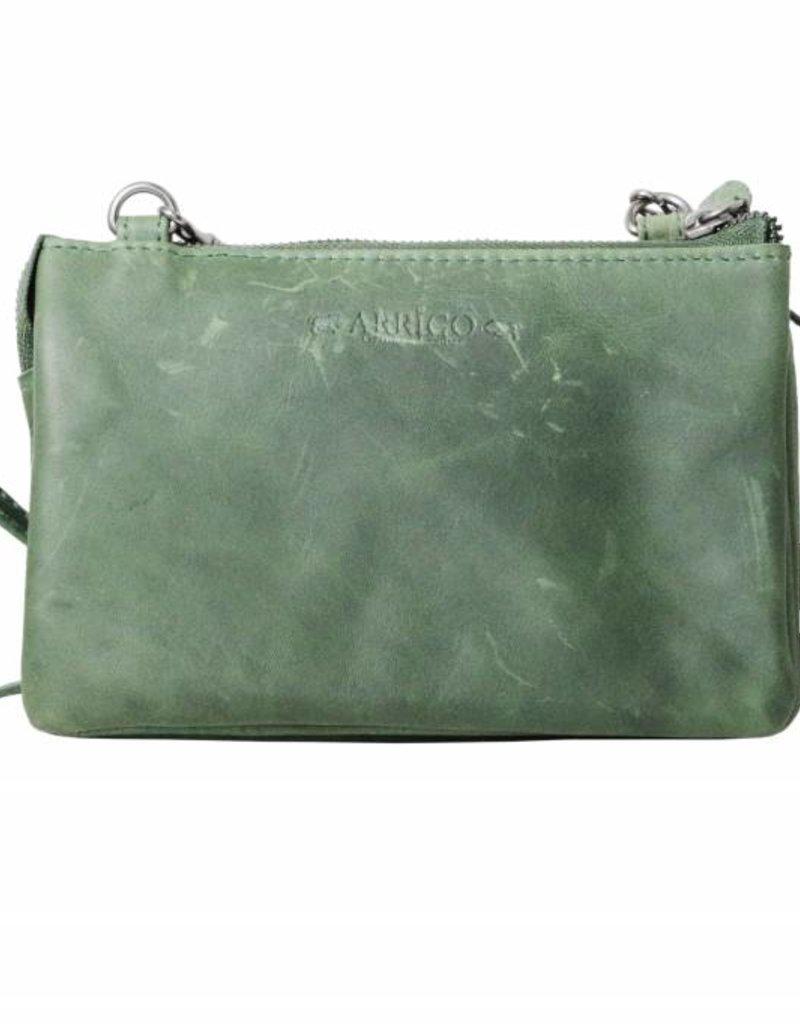 8e669f6685e Purse bag large, night bag, bag Green - Arrigo leather goods