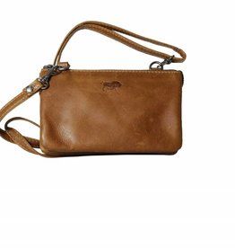 Arrigo Small purse bag, night bag, Cognac bag