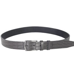Arrigo Leather belt gray