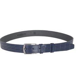 Arrigo Leather belt dark blue