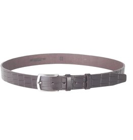 Arrigo Leather belt dark blue