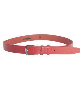 Arrigo Leather belt red thick leather