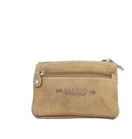 Arrigo Keychain leather with four zipper pockets buffalo leather