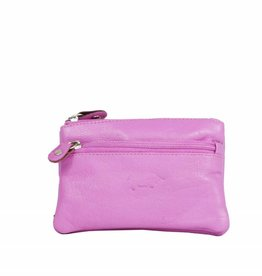 Arrigo Rose keychain leather with four zipper pockets