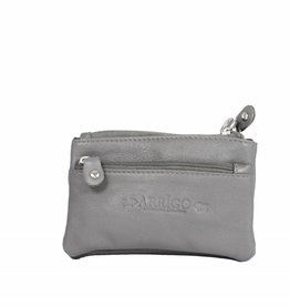 Arrigo Gray key chain leather with four zipper pockets