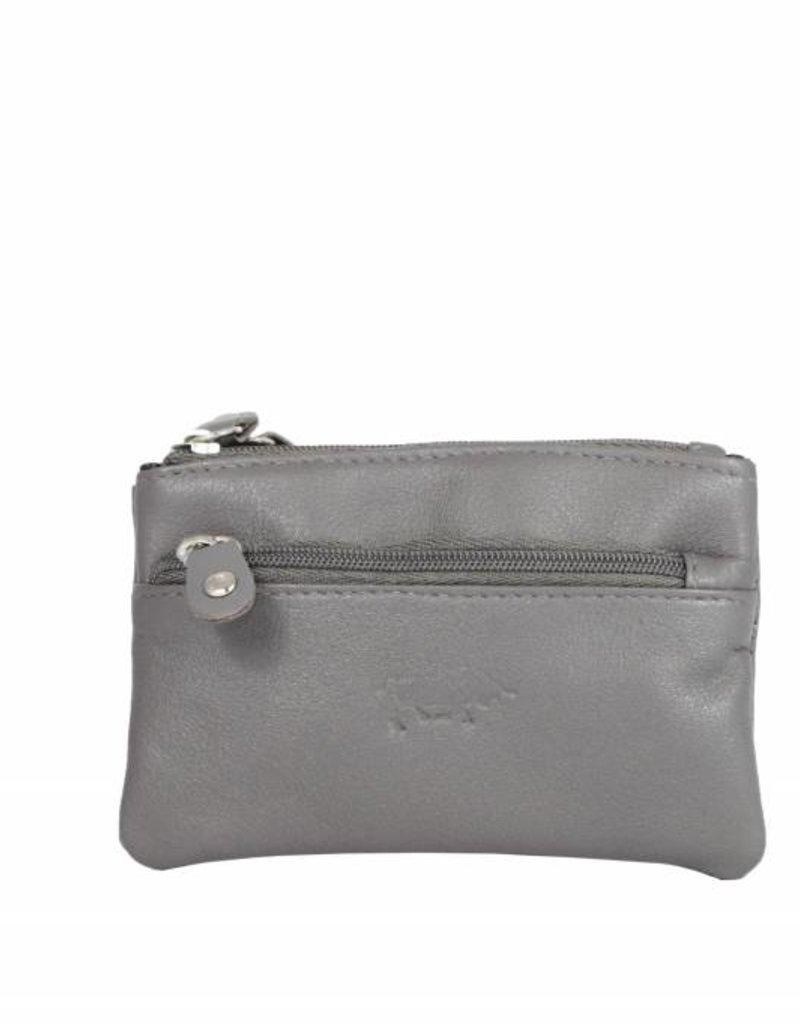 Arrigo leather Key-case key ring cowhide-arrigo 031- Gray