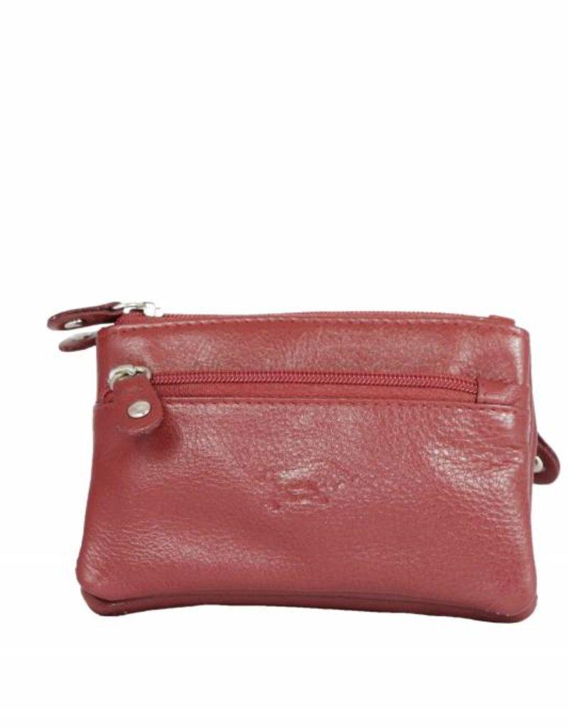 Arrigo leather Key-case key ring cowhide-arrigo 031- Dark red
