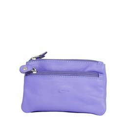 Arrigo Light purple keychain leather with four zipper pockets