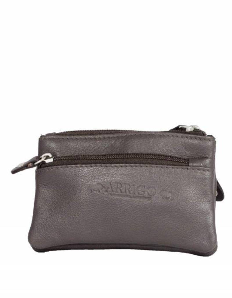 Arrigo leather Key-case key ring cowhide-arrigo 031- Dark brown
