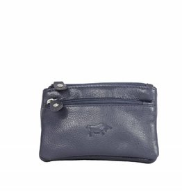 Arrigo Dark blue keychain leather with four zipper pockets