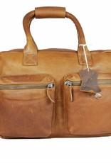 Arrigo Leather Cowboysbag big Cognac - shoulder bag - sturdy - chic - look - vintage leather- long- and short-sleeved- ARRIGO 15231- Westernbag leather-schoolbag leather