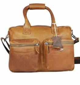 Arrigo Leren Cowboysbag large Cognac