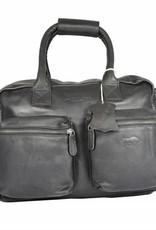 Arrigo Leather Cowboysbag large Black - shoulder bag - sturdy - chic - look - vintage leather- long- and short-sleeved- ARRIGO 15231- Westernbag leather-schoolbag leather