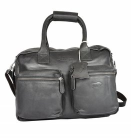 Arrigo Leren Cowboysbag large Zwart