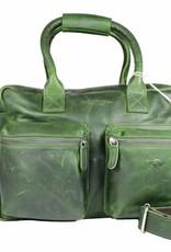 Arrigo Lederen westernbag groot groen van Arrigo
