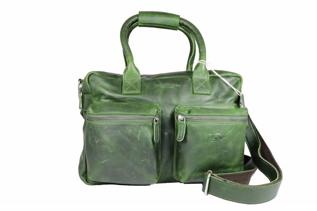 e95811bad24 Arrigo Leather Cowboysbag big Green - shoulder bag - sturdy - chic - look -  vintage leather- long- and short-sleeved- ARRIGO 15231- Westernbag - Arrigo  ...