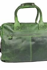 Arrigo Leather Cowboysbag big Green - shoulder bag - sturdy - chic - look - vintage leather- long- and short-sleeved- ARRIGO 15231- Westernbag