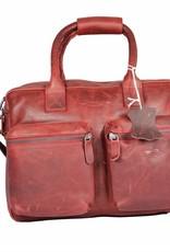 Arrigo Leather Cowboysbag big Red - shoulder bag - sturdy - chic - look - vintage leather- long- and short-sleeved- ARRIGO 15231- Westernbag