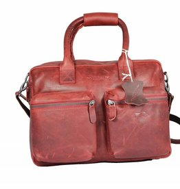 Arrigo Leren Cowboysbag large Rood