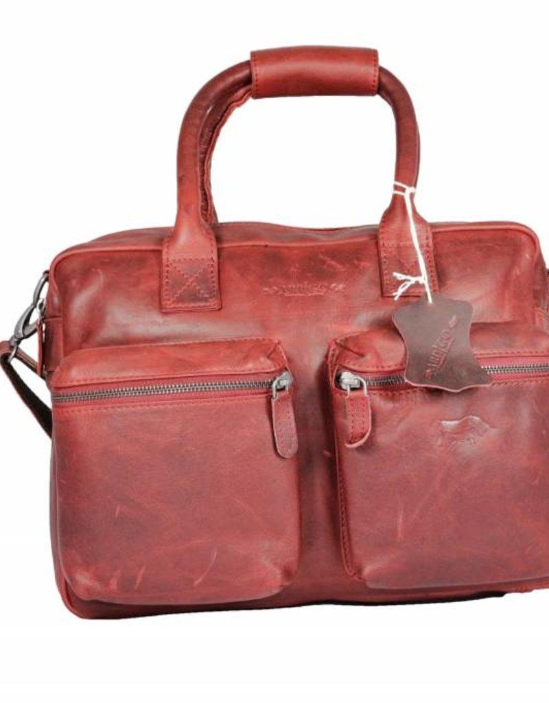 Arrigo Leren westernbag groot rood van Arrigo