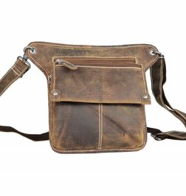 Arrigo Leather festival bag dark brown