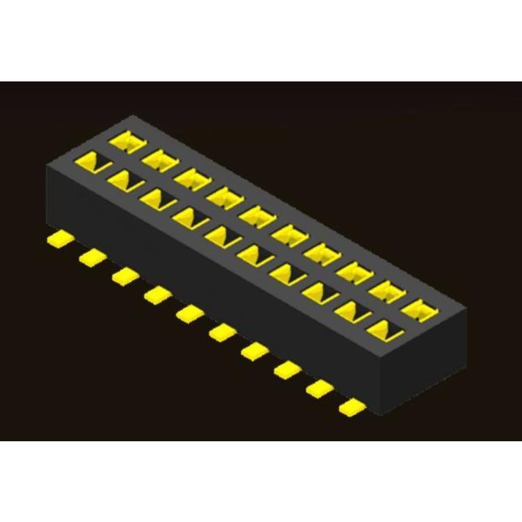 AMTEK Technology Co. Ltd. Female Header 1.27 2 Row H=2.0 Bottom Entry SMT Type