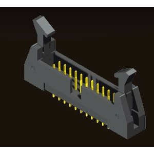 AMTEK Technology Co. Ltd. 5EH4SDXNN-XX   Ejector Header 1.27 X 2.54mm Straight Type