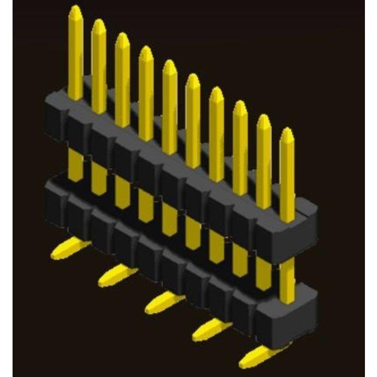 AMTEK Technology Co. Ltd. 5PH3DMX10/15/25-1XX     Pin Header 1.27mm SQ PIN0.4mm 1 Row H=1.0/1.5/2.5mm Stack SMT Type