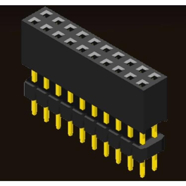 AMTEK Technology Co. Ltd. 5PS2ESX63-2/4XX   Female Header 2.0mm 2 & 4 Row Elevated Type