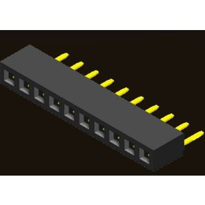 AMTEK Technology Co. Ltd. 5PS2MRX43-1XX   Female Header 2.0mm 1 Row H=4.3mm SMT R/A Type