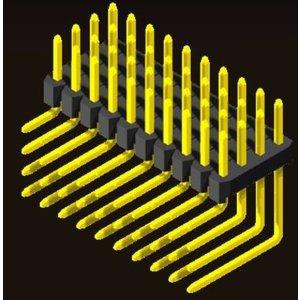 AMTEK Technology Co. Ltd. 5PH2RDX15/20-4XX          Pin Header 2.0mm 4 Row H=1.5/2.0mm Right Angle Type