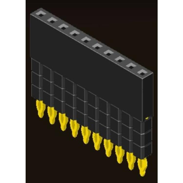 AMTEK Technology Co. Ltd. 5PS1FEX85-1/2XX                  Female Header 2.54mm H=8.5mm Elevated Press Fit Type