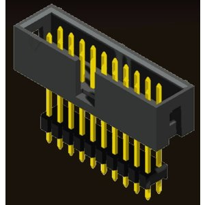 AMTEK Technology Co. Ltd. 5BH1EM/ESXNN-XX         Box Header 2.54mm Elevated SMT/Straight Type