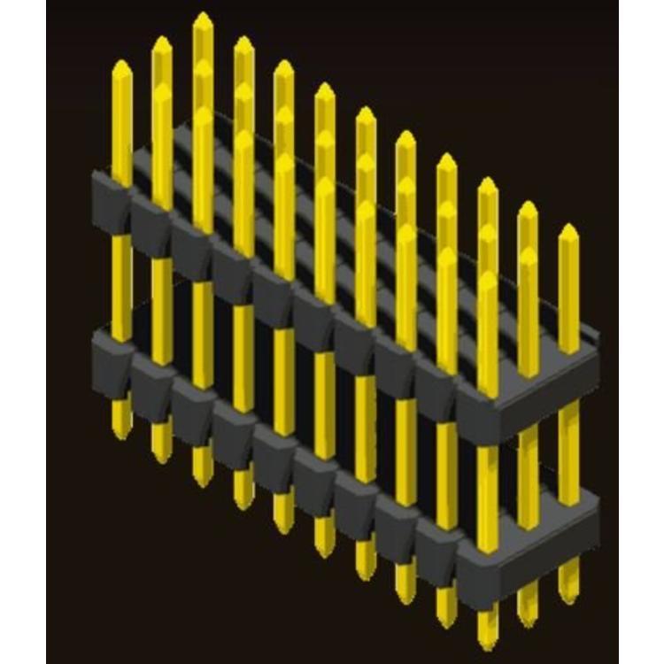AMTEK Technology Co. Ltd. 5PH1DDA25-3XX                    Pin Header 2.54mm H=1.5/1.7/2.5mm Stack Straight Type