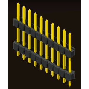 AMTEK Technology Co. Ltd. 5PH1DDX15/17/25-1XX                   Pin Header 2.54mm H=1.5/1.7/2.5mm Stack Straight Type