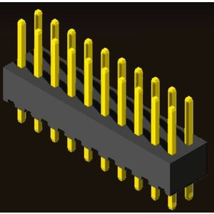 AMTEK Technology Co. Ltd. 5PH1SDX43-2XX                   Pin Header 2.54mm H=4.3mm Straight Type