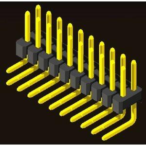 AMTEK Technology Co. Ltd. 5PH1RLX25-2XX                Pin Header 2.54mm H=2.5mm Eccentric Right Angle Type