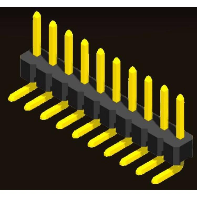 AMTEK Technology Co. Ltd. 5PH1RLX25-1XX                Pin Header 2.54mm H=2.5mm Eccentric Right Angle Type