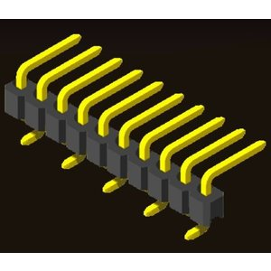 AMTEK Technology Co. Ltd. 5PH1RMX25-1XX            Pin Header 2.54mm H=2.5mm R/A SMT Type