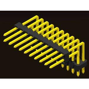 AMTEK Technology Co. Ltd. 5PH1DUX25-2XX                              Pin Header 2.54mm H=2.5mm Stack Right Angle Type