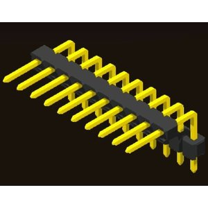 AMTEK Technology Co. Ltd. 5PH1DUX25-1XX                              Pin Header 2.54mm H=2.5mm Stack Right Angle Type