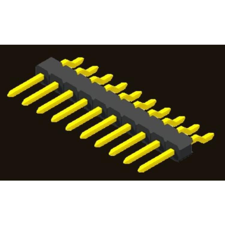 AMTEK Technology Co. Ltd. 5PH1MRX25-1XX                          Pin Header 2.54mm H=2.5mm SMT R/A Type