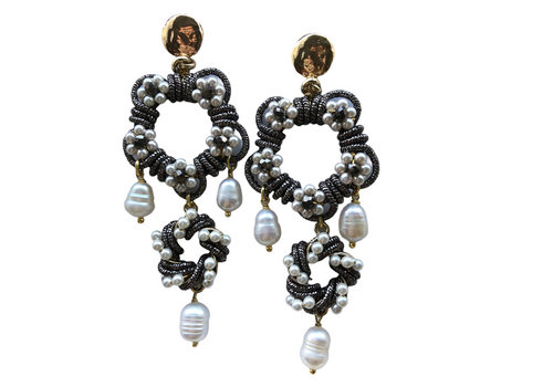 Created by Marthje Gray, White Earrings