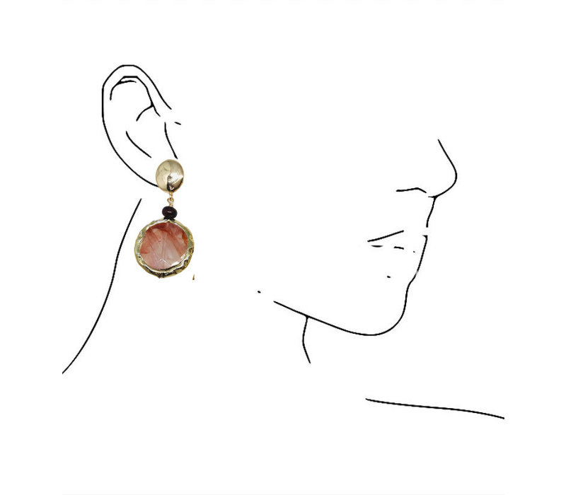 Earrings with Jasper and Agate