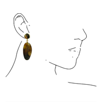 Earrings with Bras and Jasper