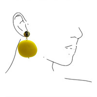 Earrings with Bras and Resin