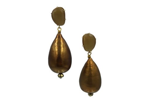 CLASSIC COLLECTION Gold, Bronze Earring