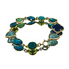 CLASSIC COLLECTION Armband met Geode, Kristal, Kattenoog