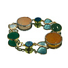 CLASSIC COLLECTION Bracelet with Geode, Cat's Eye, Colored Jade and Crystal
